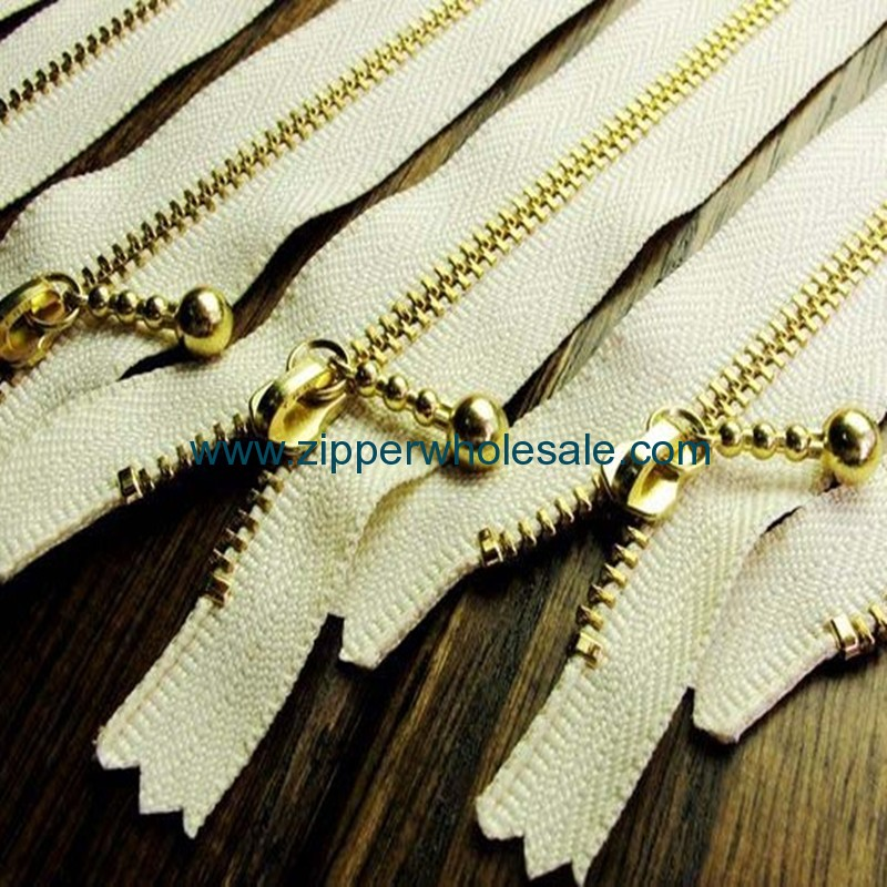 metal zippers wholesale