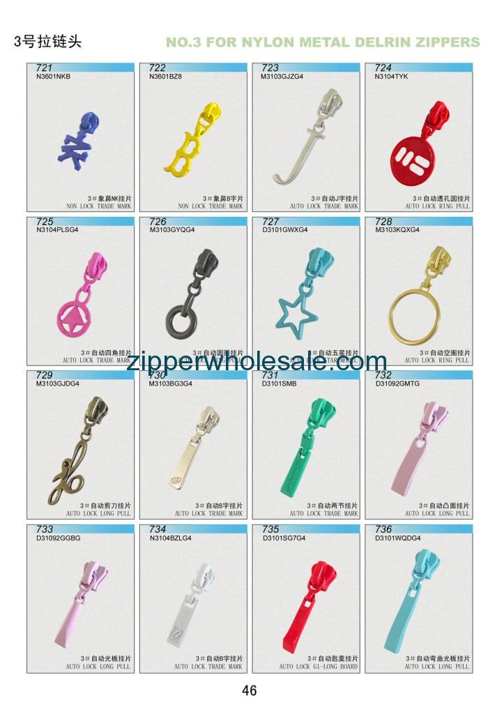 types of zipper sliders wholesale
