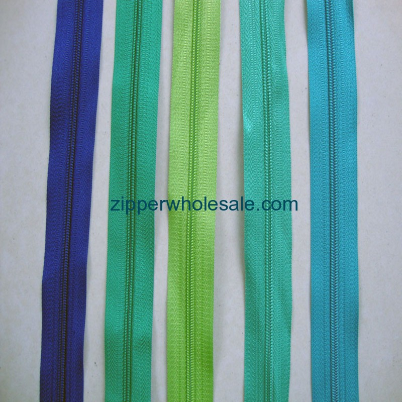 nylon zippers by the yard wholesale from china