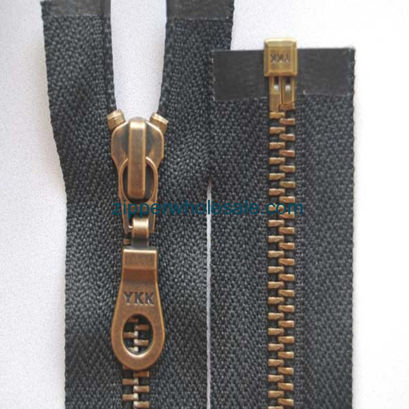 metal zippers for jackets wholesale
