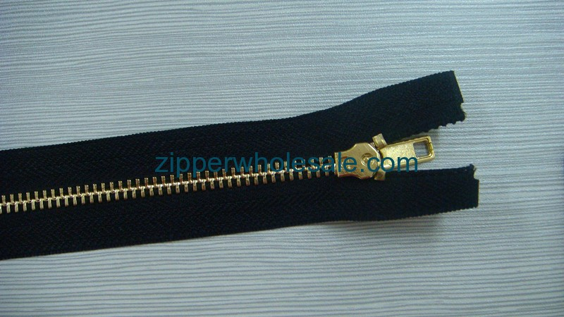 closed end metal zippers wholesale