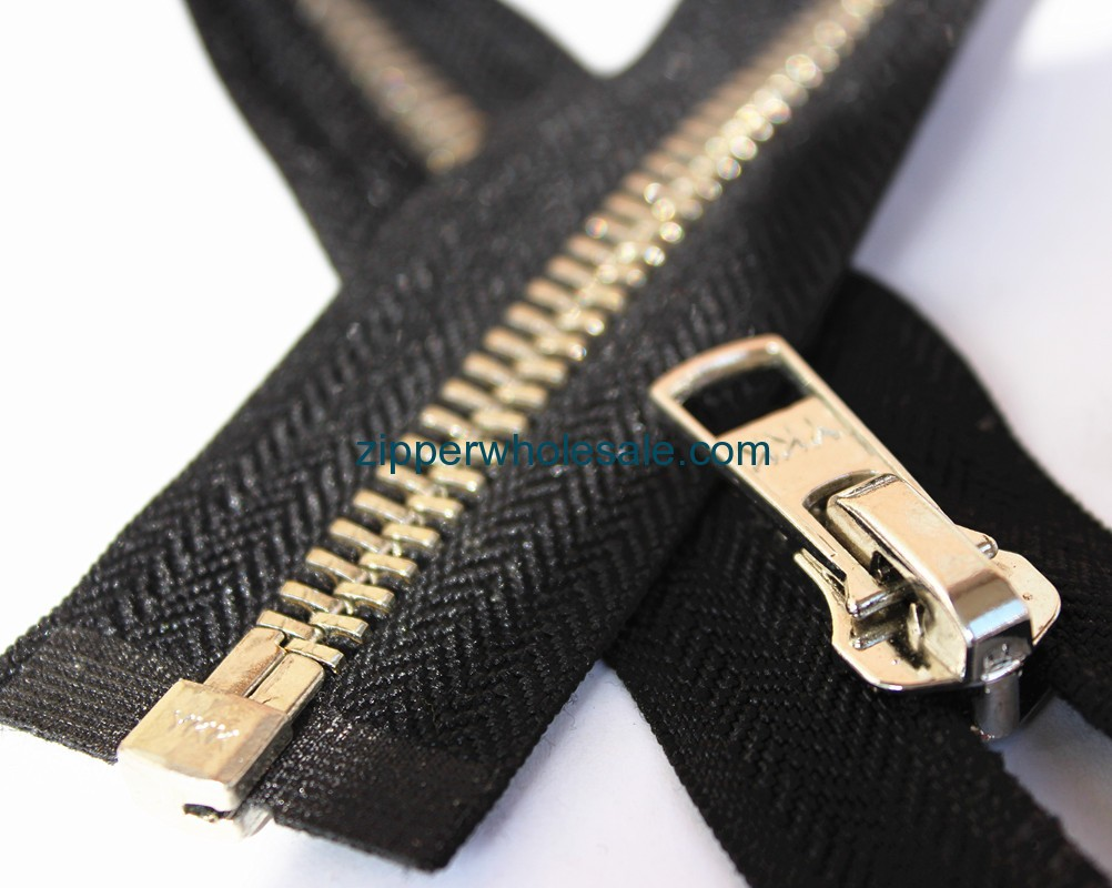 open ended metal zippers wholesale