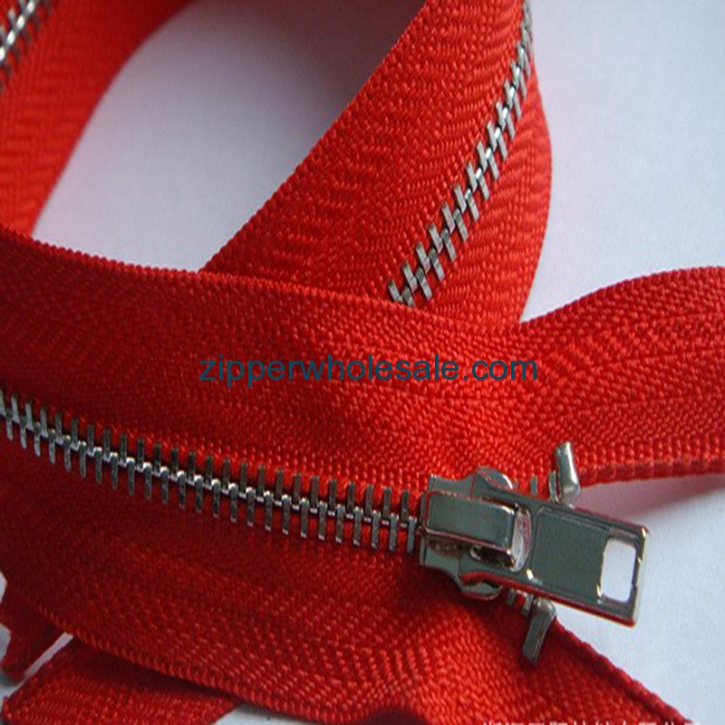 red metal zippers wholesale