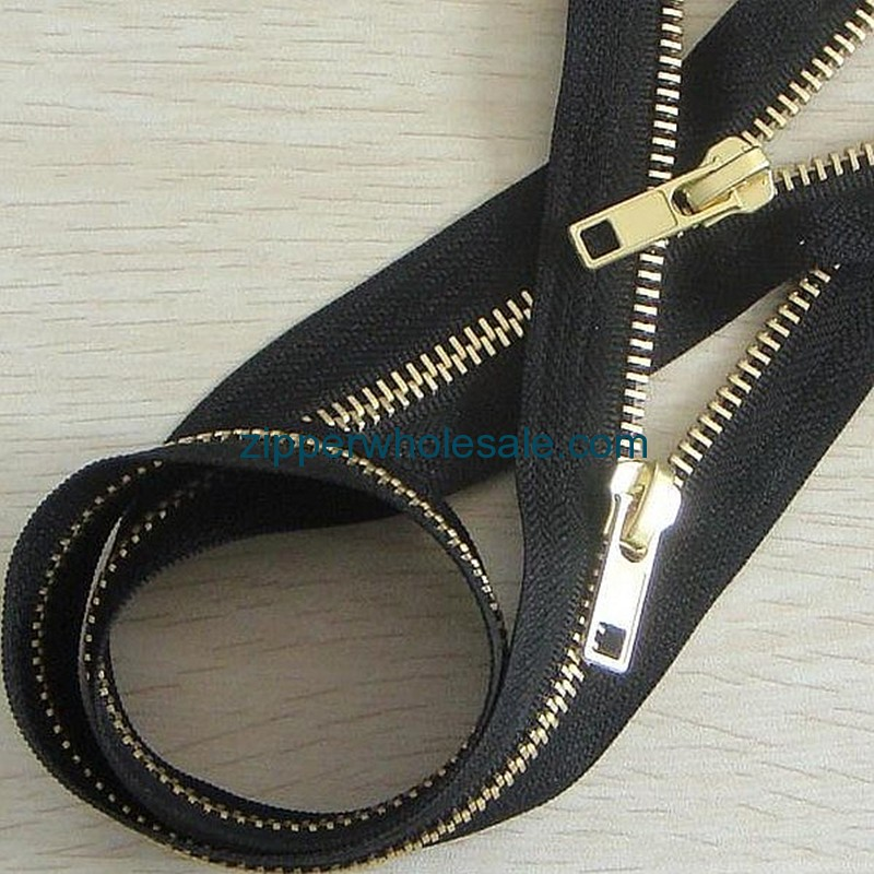 two way separating metal zippers wholesale