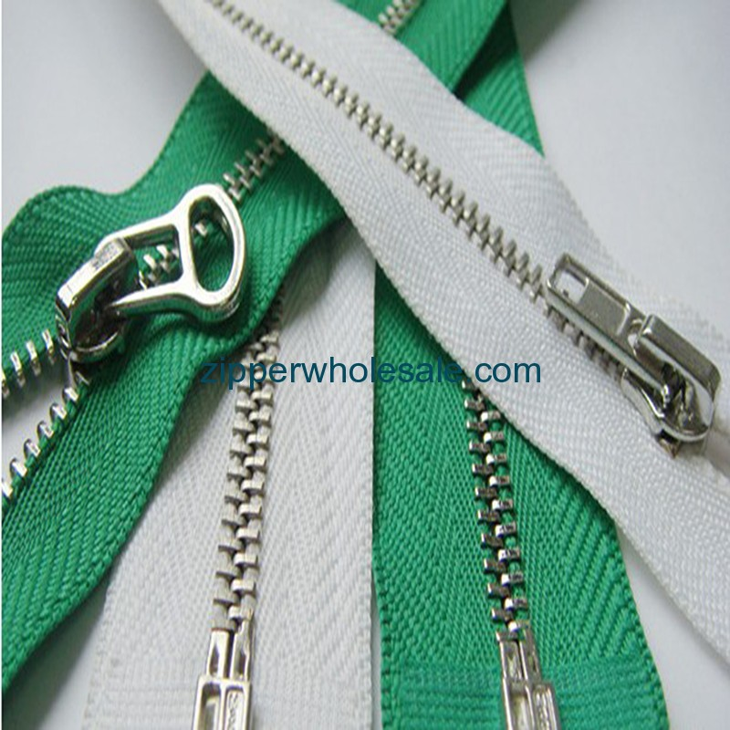 zippers with metal teeth wholesale