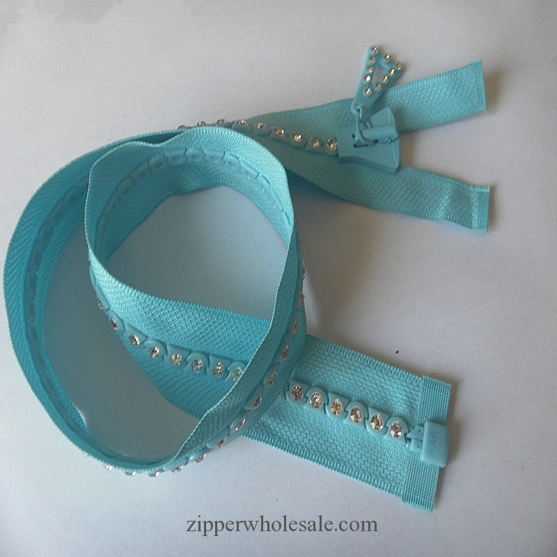 rhinestone zippers by the yard wholesale