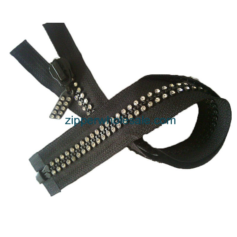 rhinestone zippers canada for sale