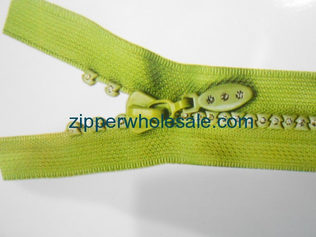 rhinestone separating zippers wholesale