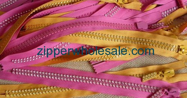crystal zippers wholesale