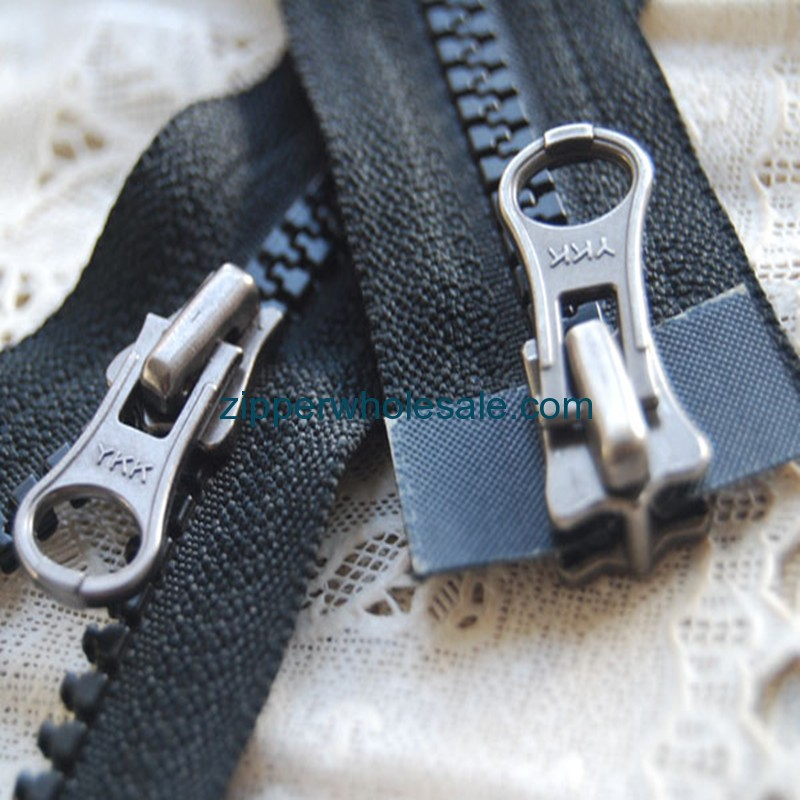 plastic jacket zippers wholesale