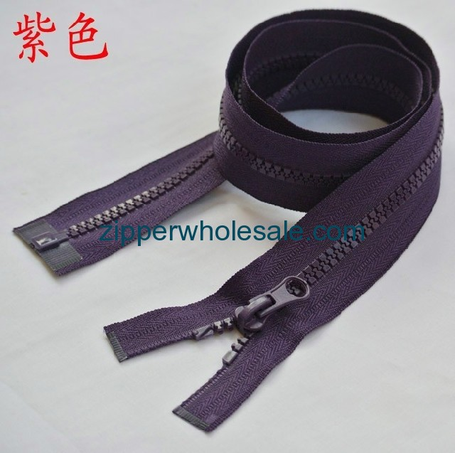 5 inch plastic zippers wholesale