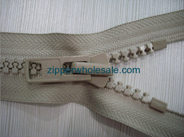 plastic coat zippers wholesale