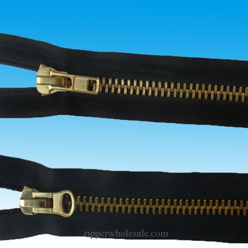 zippers by the yard brass metal