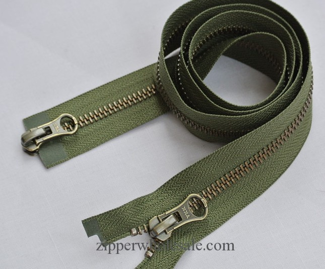 two way metal zippers wholesale