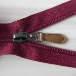 nylon zippers with real leather pulls wholesale