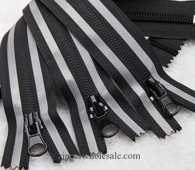 reflective tape nylon zippers wholesale