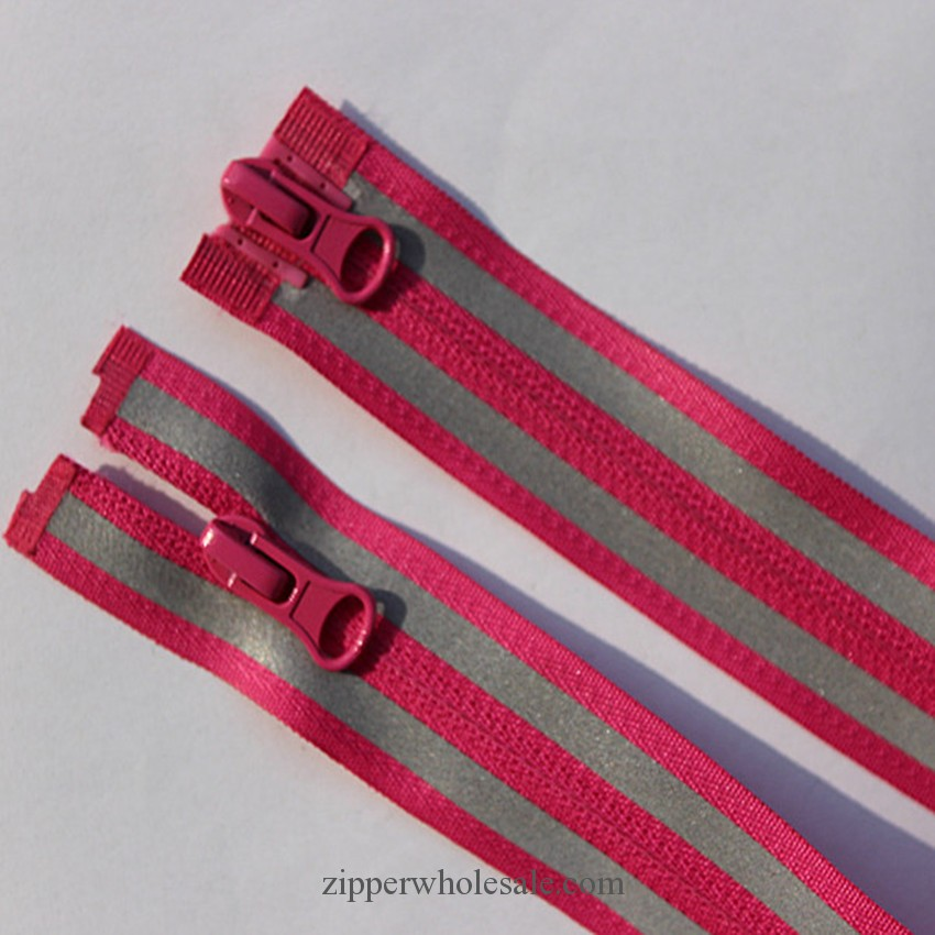 reflective tape reversible nylon zippers wholesale