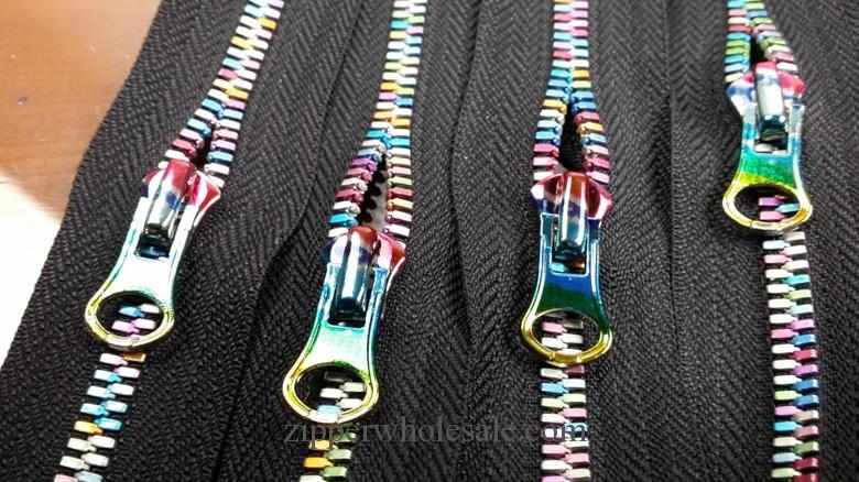 colored teeth colorful teeth metal zippers wholesale