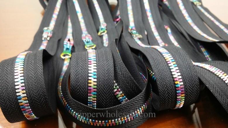 fancy colored teeth colorful teeth metal zippers wholesale