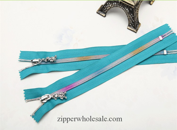 colorful teeth nylon zippers wholesale