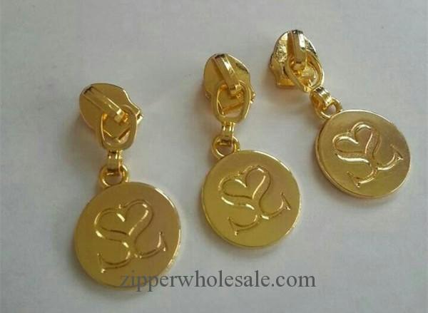 custom golden zipper pulls wholesale