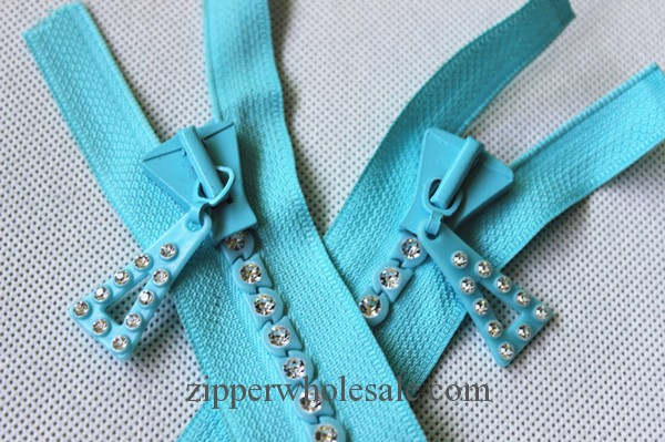 decorative rhinestone zippers for garment and handbag