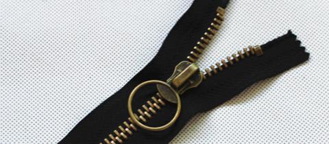 antique brass metal zippers wholesale