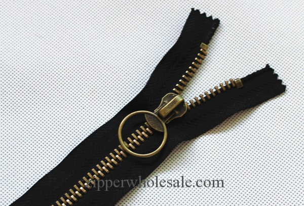 antique brass metal zippers wholesale