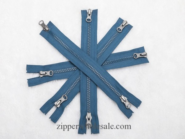 two way open end plastic zippers wholesale