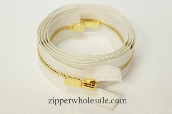 golden metal zippers open end gold metal zippers
