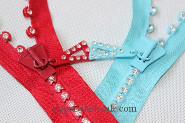 #8 rhinestone zippers wholesale big size rhinestone zippers