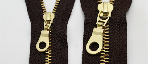 gold metal zippers for handbags wholesale