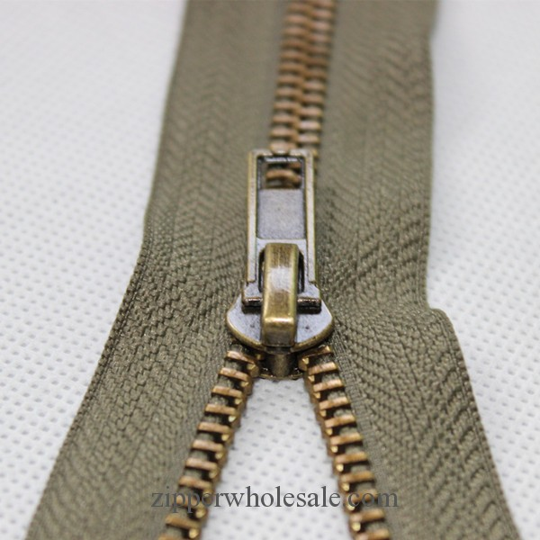 anti brass metal zippers wholesale