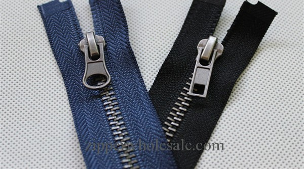 antique silver metal zippers wholesale