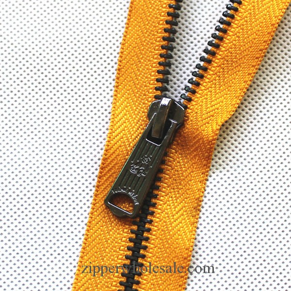 nickel plated metal zippers wholesale