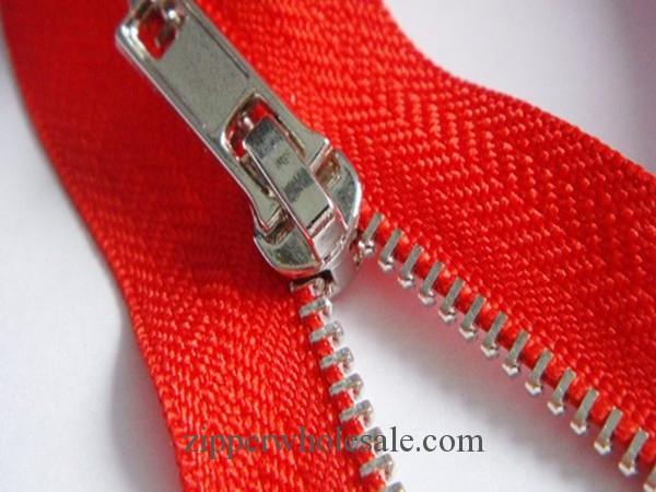 White gold metal zippers wholesale