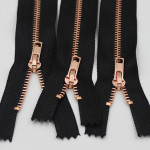 rose gold metal zipper close end rose golden metal zippers