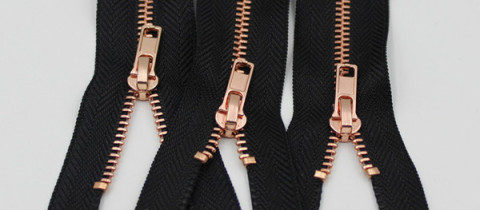 rose gold metal zipper close end rose golden metal zippers
