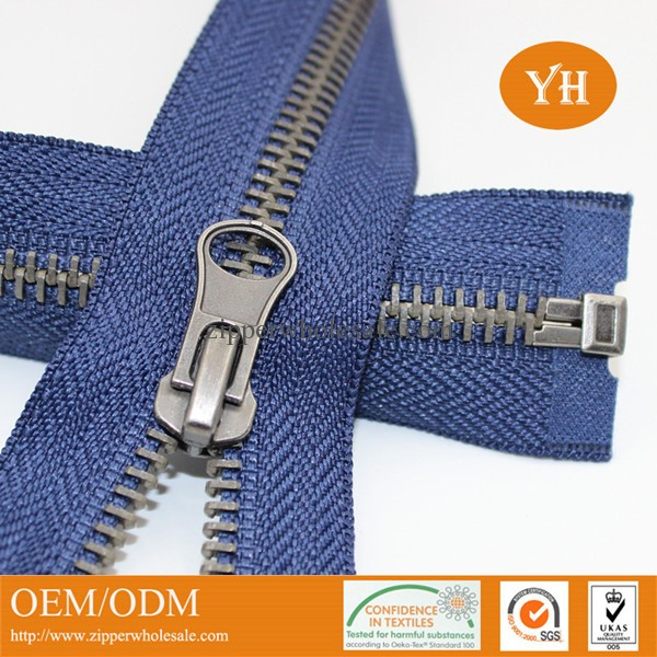 high quality metal zippers for coats wholesale