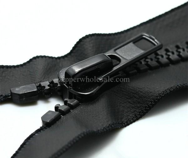 open end matte finish plastic waterproof zippers