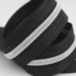 gold/silver teeth nylon zippers by the yard wholesale