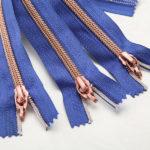 rose gold teeth nylon zippers wholesale