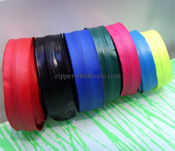 colored waterproof zippers by the rolls