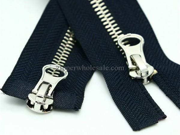 metal coat zippers wholesale