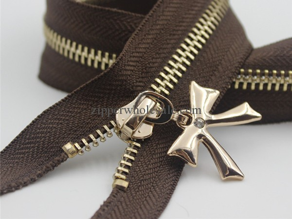 metal zippers with diamond pulls wholesale