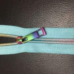 multi colour nylon zippers and pulls