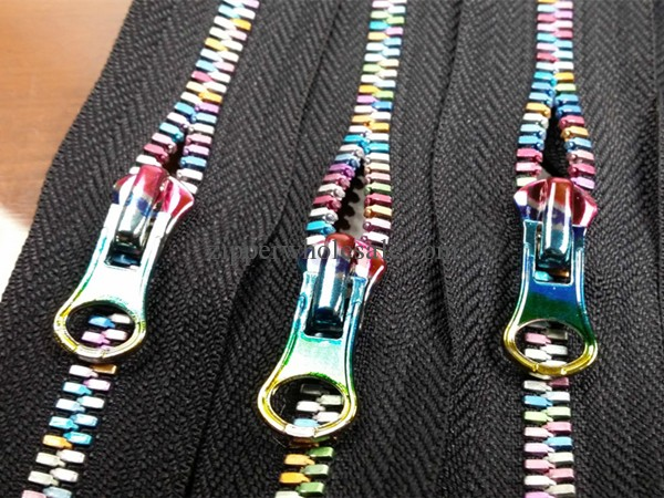 iridescent metal zippers and sliders wholesale