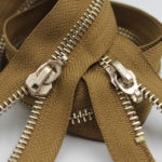 gold polished metal zippers wholesale