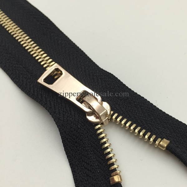 high polish zippers for handbags and wallets