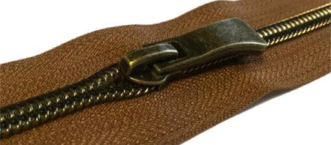 antique brass nylon coil zippers wholesale